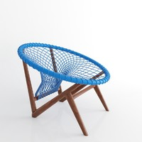 3d model of chair escuna tidelli