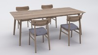 3ds max chair table design