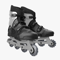 rollerblades modeled realistic max