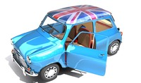 3d mini classic car