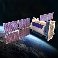 satellite glonass 3d model