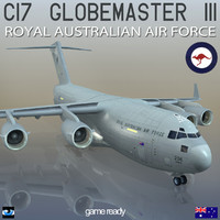 c-17 globemaster iii royal 3d model