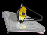 james webb space telescope 3d obj