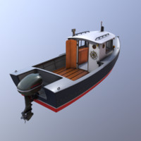 3d model cruiser boat cruising