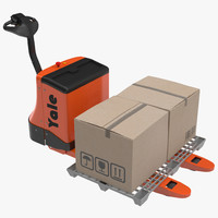 3d powered pallet jack plastic model