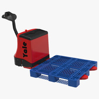 powered pallet jack plastic 3d model