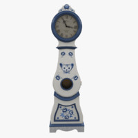 hand painted grandfather clock max