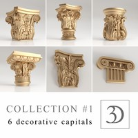 1 6 decorative capitals 3d model