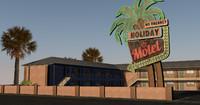 las vegas style motel 3d model