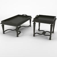 Classic Coffee Tables - Chelini Art.2061/V + 2061/PV