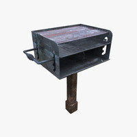 3d camping grill model