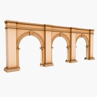 3d model arch 3