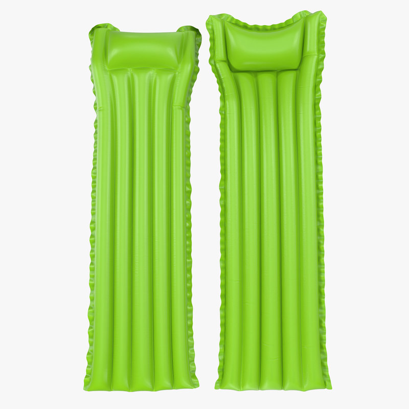 3d model of Inflatable Air Mattress Green 00.jpg
