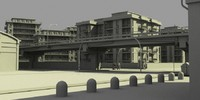3d obj concrete city streets