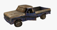 3d rusty pick-up model