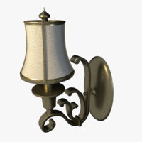 3d model antique lamp light
