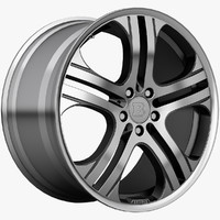 brabus monoblock wheels 3d model