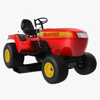 lawn tractor snapper 3d model