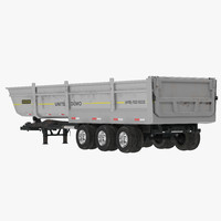3d semi dump trailer model