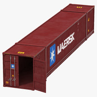 3d model 53 ft shipping iso container