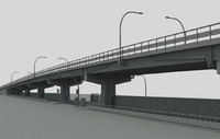 city highway overpass obj