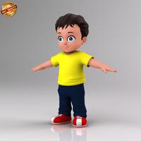 cartoon kid obj