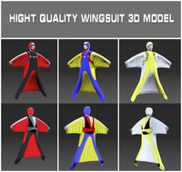 3d model wingsuit skydiving