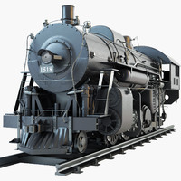 3ds max icrr 1518 steam locomotive