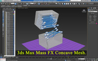 3ds max  Mass FX Gestione Concave Mesh 2014