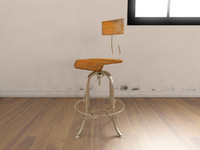 3d model of modern industrial console chair