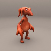 cartoon pig-elephant 3d model