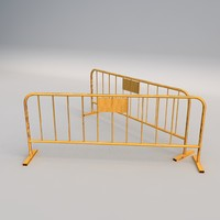 concrete barricade 3d 3ds