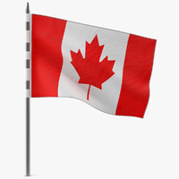 canadian flag 3d model