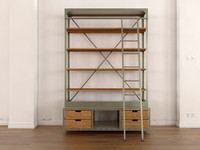 modern industrial book shelf 3d max