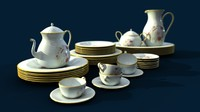 maya crockery plates cup