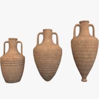 3d model amphoras pack 1