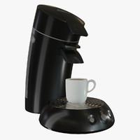 3d philips coffee maker model