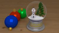 3d 3ds snowball olaf