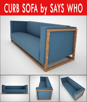 curb sofa says 3d max