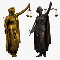 lady justice statue 3d model