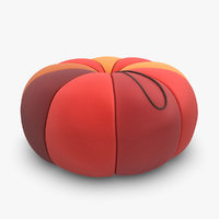 3ds pouf colorful