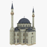 shaheed mosque 3d model