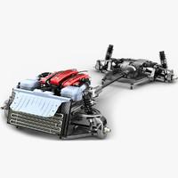 3d max chassis ferrari ff v12