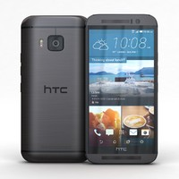 3d model htc m9 gunmetal gray