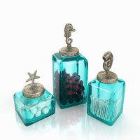 Bathroom Ocean Canisters Set