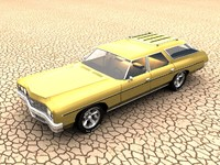 1973 chevrolet impala wagon 3d model