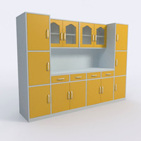 3d cabinet kitchen interior