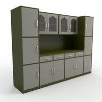 cabinet kitchen interior 3d model