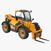 Telescopic Handler Forklift JCB 535 95 Orange