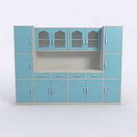 3d model of cabinet kitchen interior